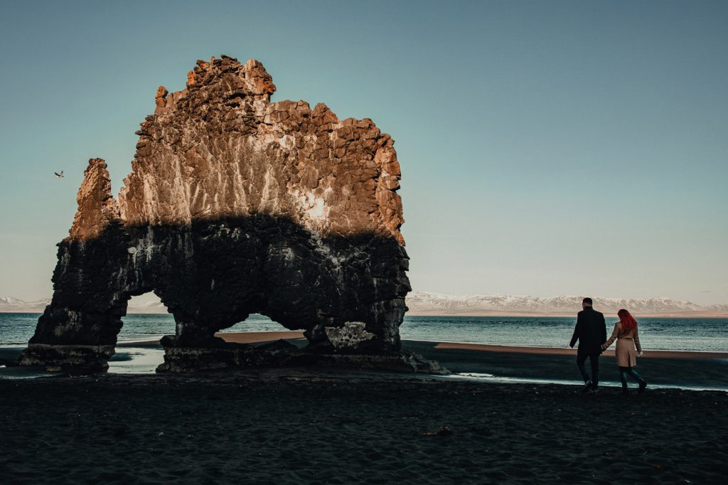 MEMO photo agency - wedding photographer - svadobny fotograf - Iceland - HVÍTSERKUR The Rhino Rock in North Iceland